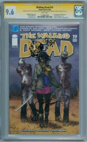 Walking Dead #19 CGC 9.6 Signature Series Signed Robert Kirkman Charlie Adlard & Tony Moore Sketch
